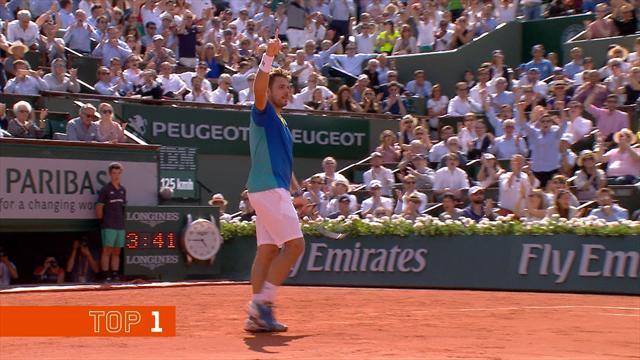 Men's top five shots: No Nadal as Wawrinka takes top spot