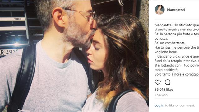 """Bianca Atzei scrive a Biaggi: """"Forza Max. Sei la persona più tenace e forte che conosca"""""""