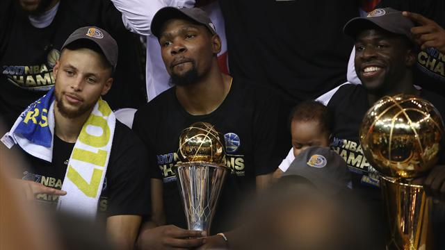 Durant clinches maiden NBA title as Warriors overcome Cavaliers