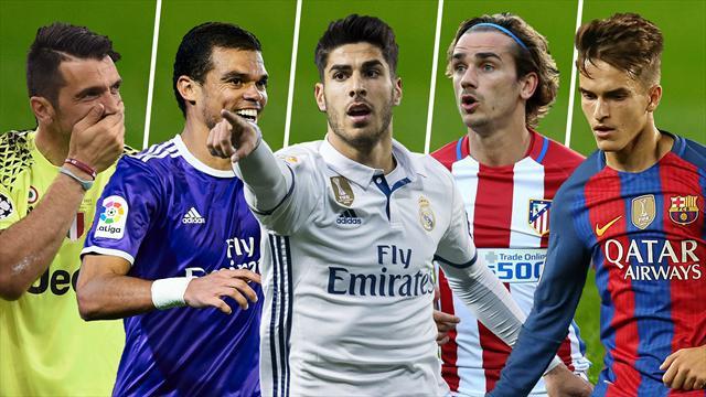 Buffon, Pepe, Asensio, Griezmann y Denis Suárez, los nombres del día