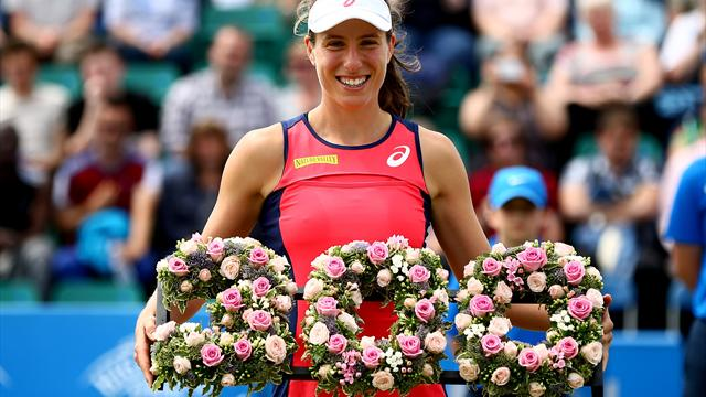 Konta brings up 300th win after Moore's retirement in Nottingham