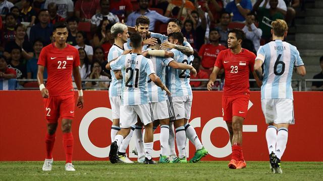 L'Argentine écrase Singapour, Di Maria buteur