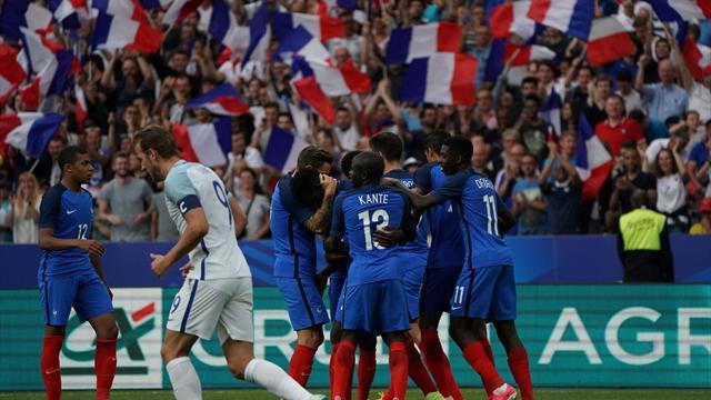 Umtiti a bien senti le coup… et a égalisé contre l'Angleterre grâce à son premier but en Bleu