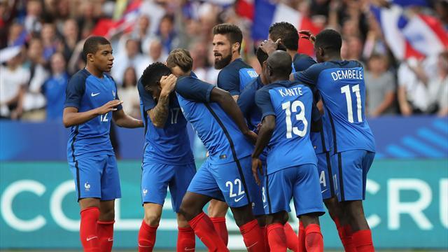Francia-Inglaterra: Sin Griezmann y con uno menos (3-2)