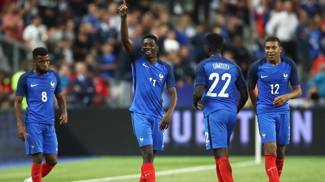Les notes des Bleus : Dembélé, Lemar et Mbappé, c'est football champagne