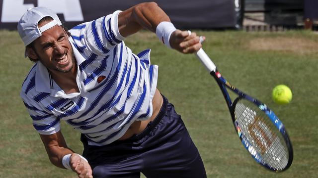 Lucas Pouille derrota a Feliciano López consiguiendo su primer título en hierba 4-6, 7-6 (5) y 6-4