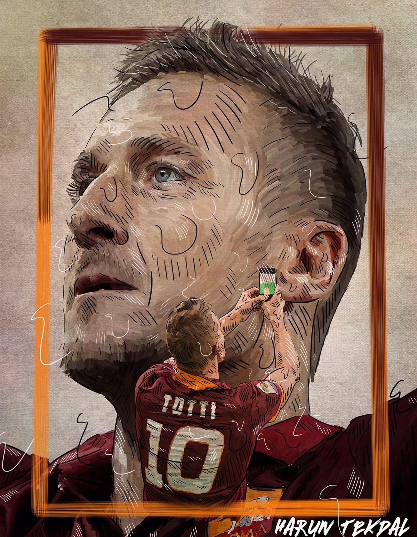 Francesco Totti (illustrazione by Harun Tekdal)