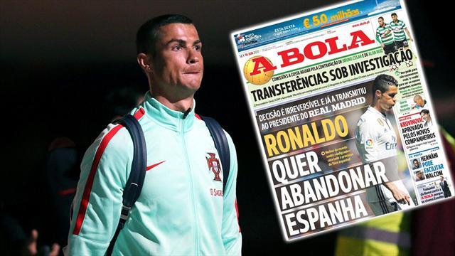 Poursuivi par le fisc, Cristiano Ronaldo voudrait quitter l'Espagne !