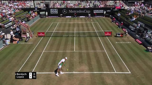 ATP Stuttgart: Puntazo de Feliciano al comienzo del partido
