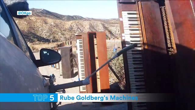 """Le cinque migliori """"macchine di Rube Goldberg"""" mai viste: c'è anche Djokovic a fare da tester"""