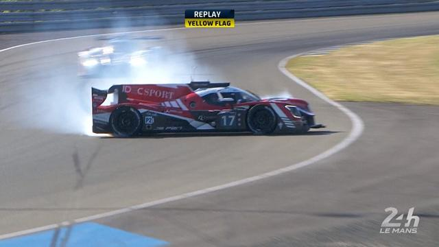 Le Mans: Idec Sport Racing crashes... during the warm-up
