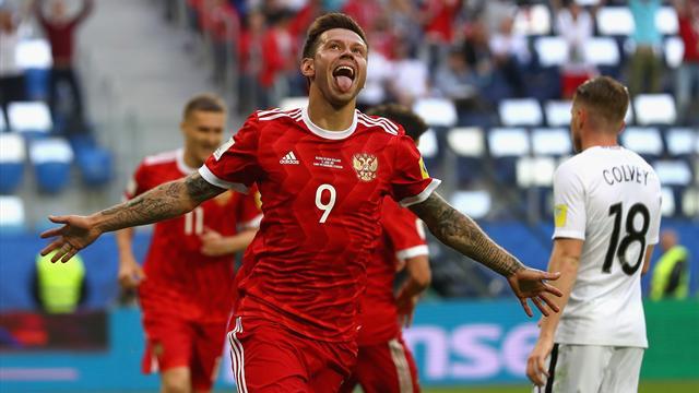 Rusia gana con facilidad a Nueva Zelanda en el partido inaugural (2-0)