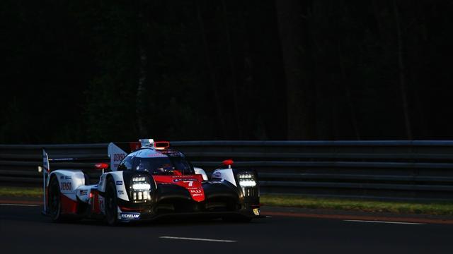 Avant l'hécatombe, Toyota avait attaqué la nuit en tête avec Porsche dans ses rétroviseurs...