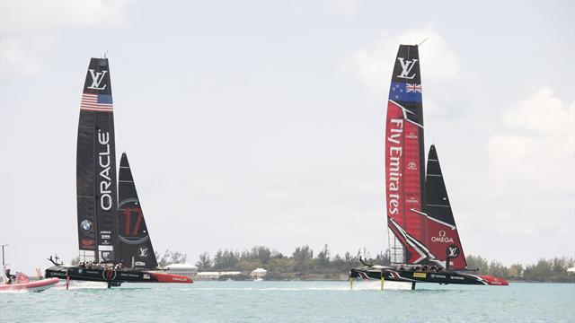 Petit vent mais grosse claque : les Kiwis dominent les Américains