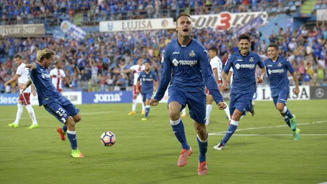 Playoff ascenso (vuelta), Getafe-Huesca: Los azulones más cerca de Primera (3-0, global 5-2)