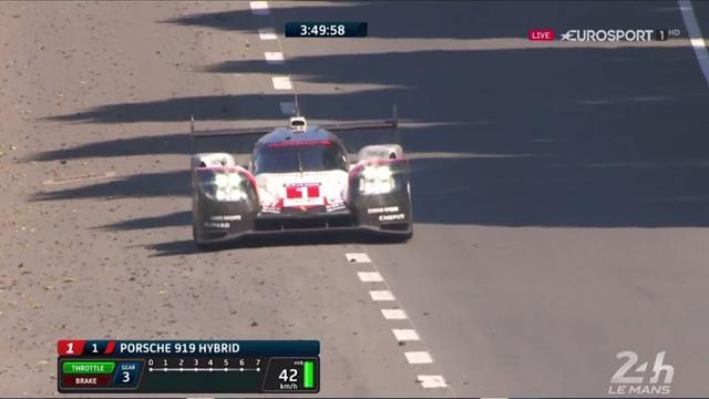 Vuelco en las 24 Horas de Le Mans 2017: El Porsche nº1 también rompe cuando era líder