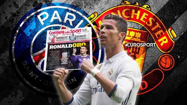 Euro Papers: PSG make £122m Ronaldo offer as United go all in