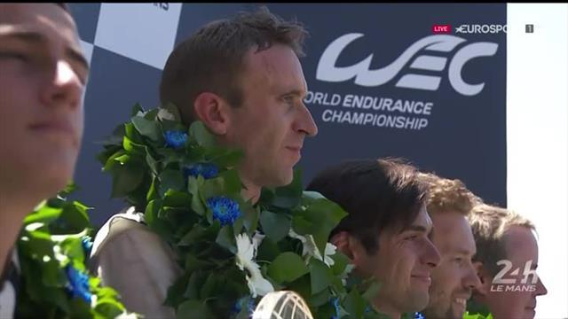 24 Ore di Le Mans: la premiazione della Porsche vincitrice