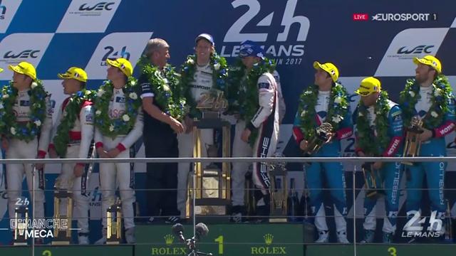 Bernhard, Bamber et Hartley : trois pilotes Porsche heureux sur le podium du Mans !