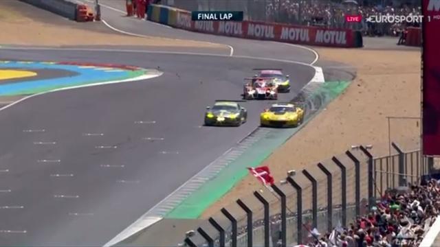 Tolles Überholmanöver: Aston Martin schluckt führenden Corvette