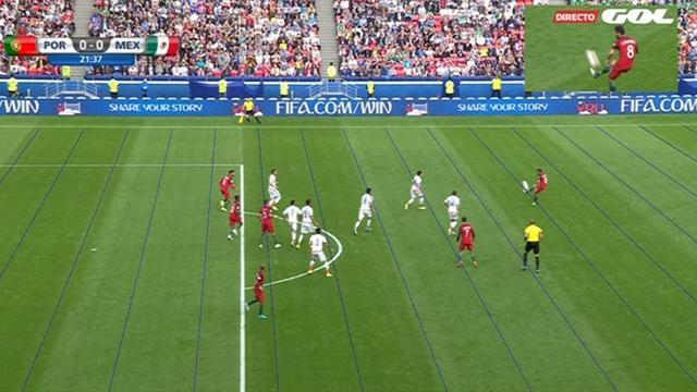 El VAR anula un gol de Nani en el Portugal-México por fuera de juego