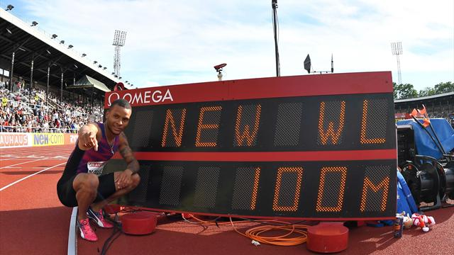 De Grasse blown to wind-aided 100m win in 9.69 seconds