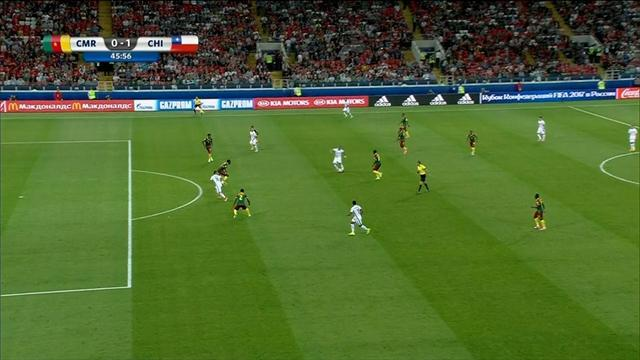 El VAR actúa de nuevo y anula un gol de Vargas en el Camerún-Chile por fuera de juego