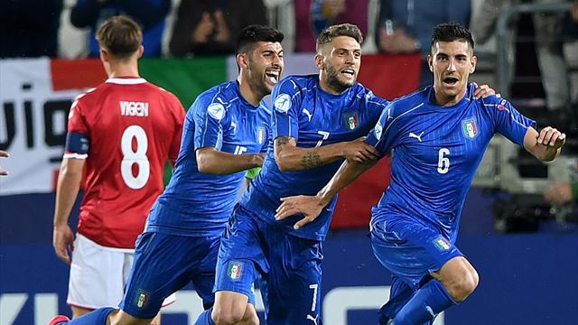 Le pagelle di Danimarca-Italia Under 21 0-2: Rugani-Caldara insuperabili