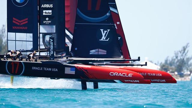 El 'Team New Zealand' sigue arrollando al 'Oracle': cuatro de cuatro