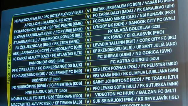 El Estrella Roja comenzará ante el Floriana y el Rangers frente al Progres