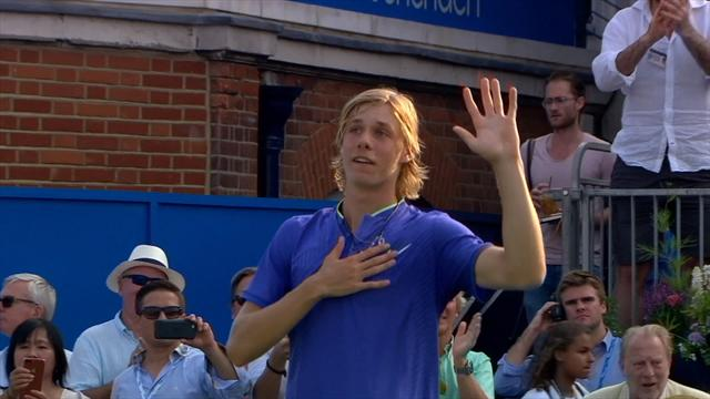 VIDEO: Rising star Shapovalov 'wins a few friends' with shock victory over Edmund