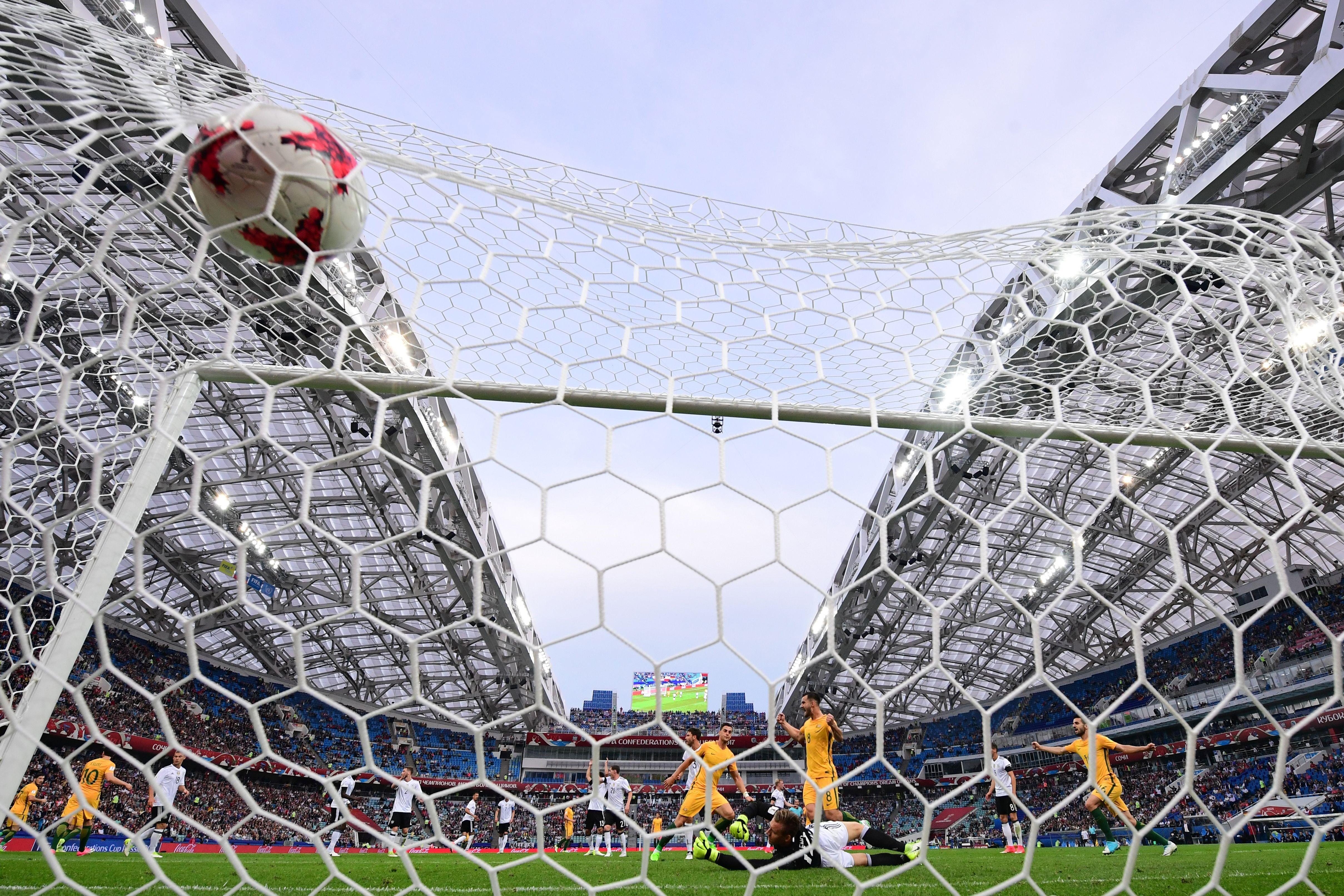 Tomi Juric buteur lors de Allemagne - Austalie en Coupe des Confédérations 2017