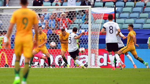 3-2. Alemania cautiva pero sufre para ganar a Australia