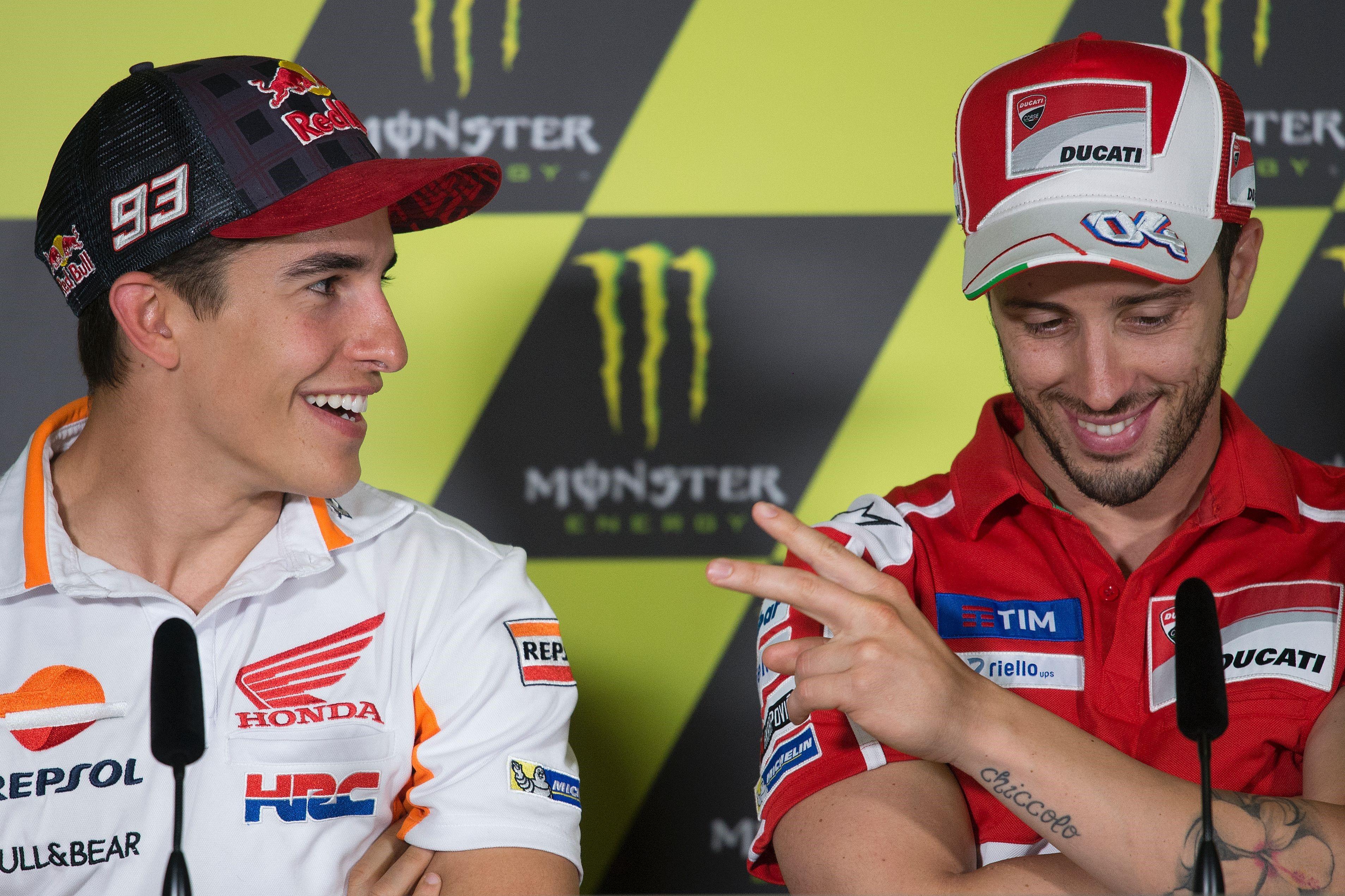 Marc Marquez (Honda HRC) et Andrea Dovizioso (Ducati Team) au Grand Prix de Catalogne 2017