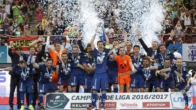 Así fue la entrega del trofeo de campeón a Movistar Inter