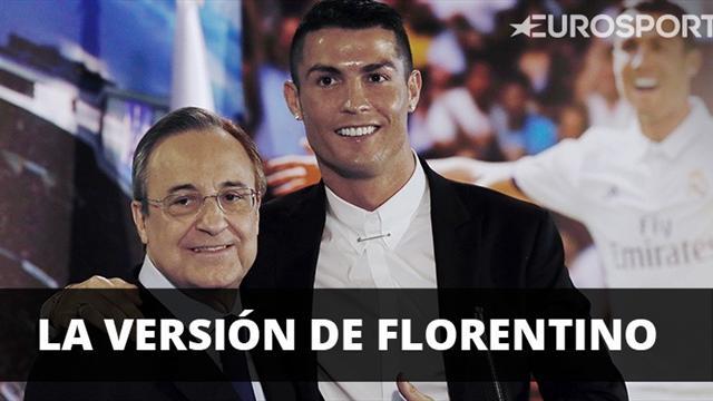 Florentino tranquiliza al madridismo y mima a Cristiano