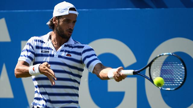 Lopez upsets Dimitrov to set up Cilic final at Queen's