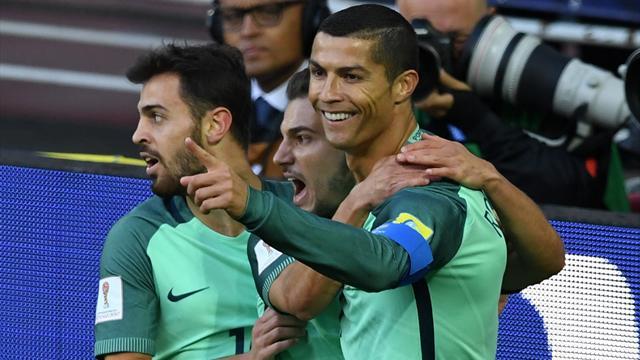 Parfaitement servi par Guerreiro, Ronaldo a fait mouche de la tête : son but en vidéo