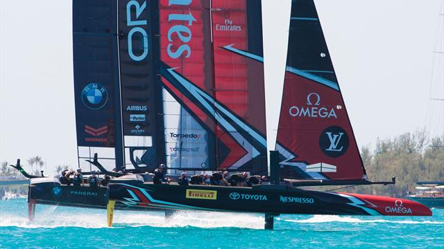 New Zealand pedal their way to brink of America's Cup victory