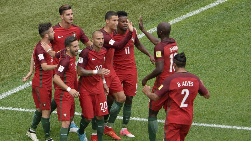 a8be64f3fb Andre Silva partecipa alla festa portoghese  4-0 e semifinale da prima in  classifica - FIFA Confederations Cup 2017 - Calcio - Eurosport