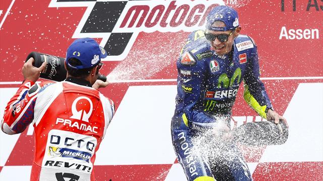 GP des Pays-Bas - MotoGP : victoire de l'Italien Valentino Rossi (Yamaha)