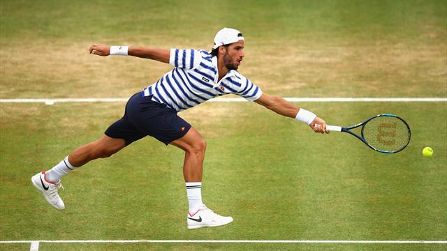 ATP Sttutgart, Gilles Simon-Feliciano López: Jugar en hierba le sienta muy bien (6-7 (6) y 4-6)