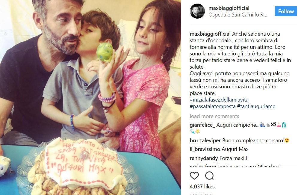 Max Biaggi posts on Instagram.