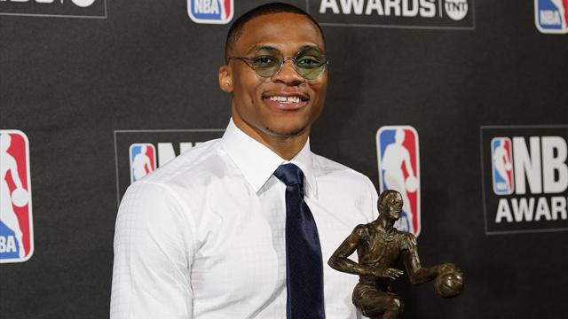Thunder's Westbrook named MVP after historic season