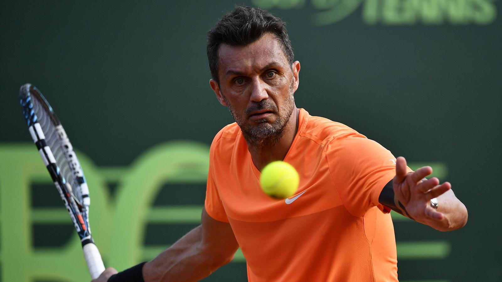 Former Italy defender Paolo Maldini suffers defeat in professional tennis debut - Football ...