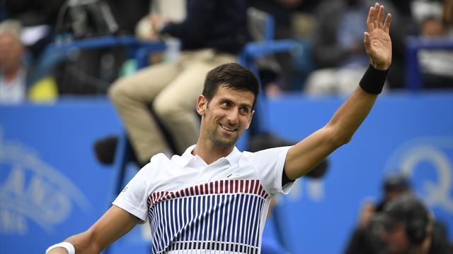 ATP Eastbourne, Novak Djokovic-Vasek Pospisil: La lluvia no agua la fiesta 6-4 y 6-3