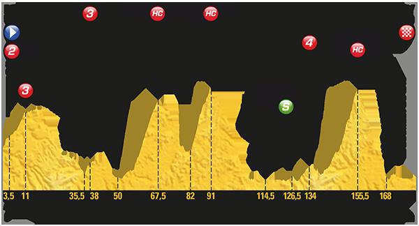 Tour: Das Profil der 9. Etappe