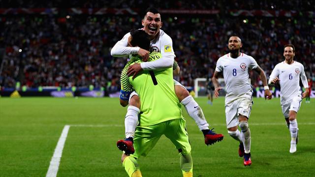 Bravo the hero as Chile stun Portugal on penalties to reach final