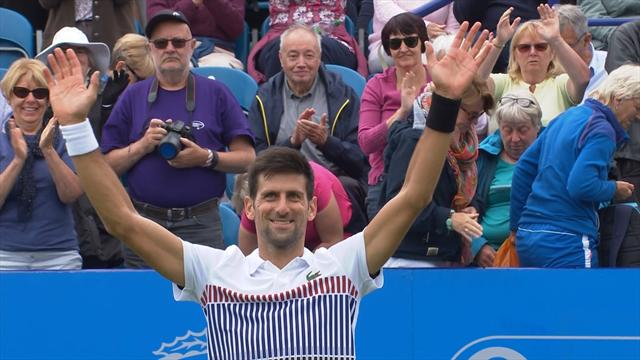 ATP Eastbourne, Nole ritorna al successo. Monfils sconfitto in due set