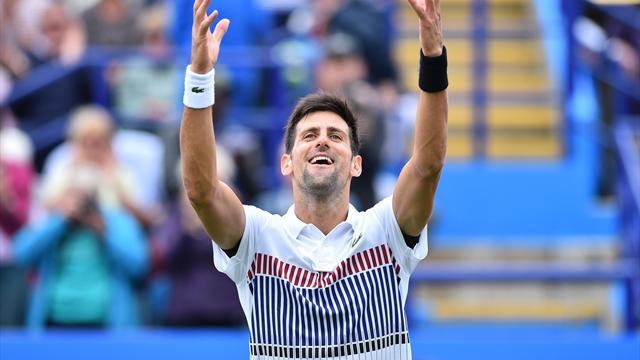 Djokovic derrota a Monfils y se corona en Eastbourne por 6-3 y 6-4